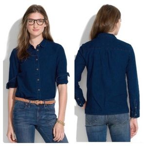 Madewell Indigo Denim Button Down Shirt